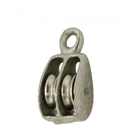 Double Solid Eye Pulleys